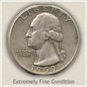1959 Quarter Extremely Fine Condition