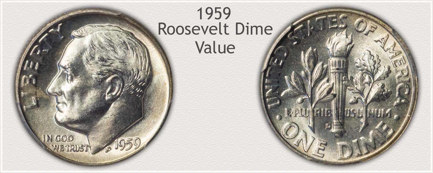 1959 Roosevelt Dime - Obverse and Reverse
