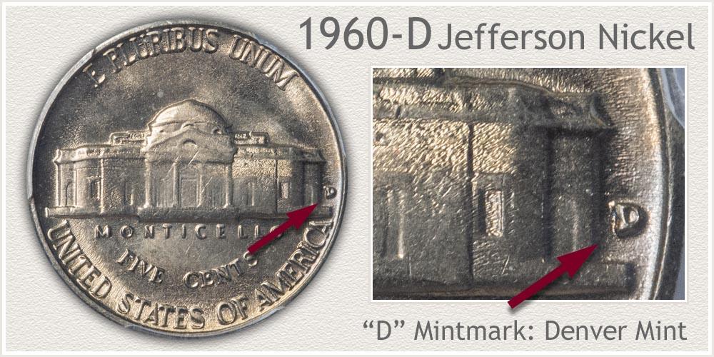 1960-D Jefferson Nickel