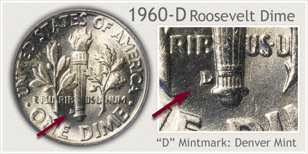 1960-D Roosevelt Dime