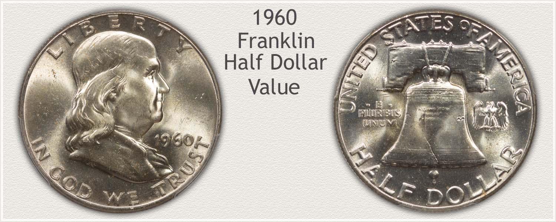 1960 Half Dollar - Franklin Half Series - Obverse and Reverse View