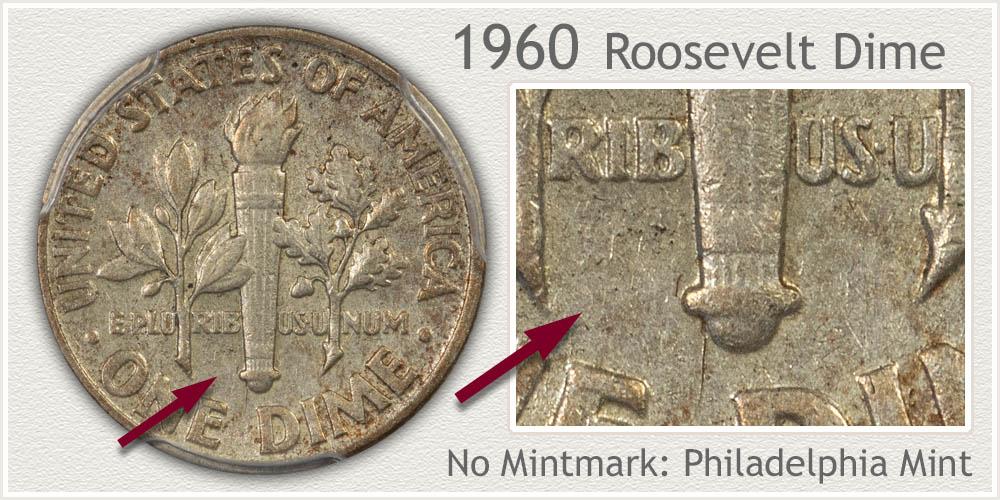 1960 Roosevelt Dime