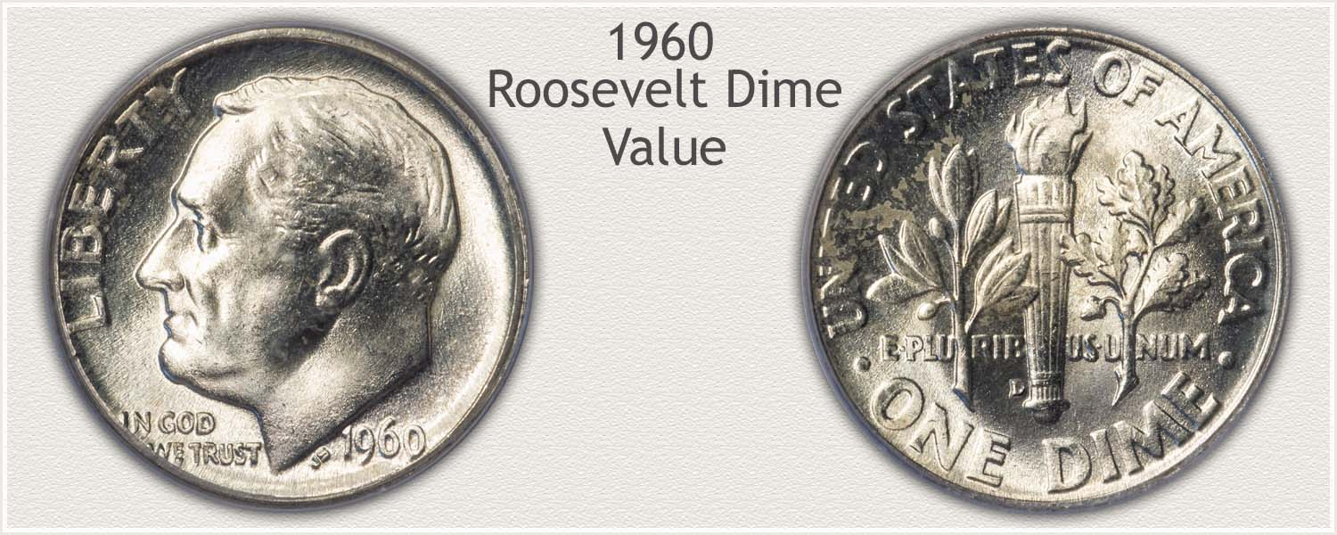 1960 Roosevelt Dime - Obverse and Reverse