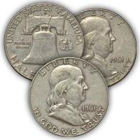 1961 Franklin Half Dollar Circulated Condition