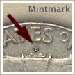 Mintmark Location 1961 Franklin Half Dollar