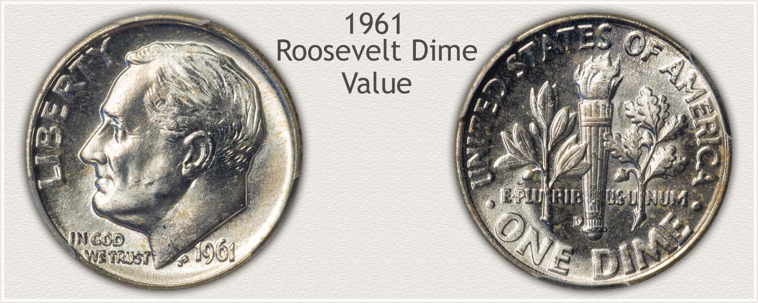 1961 Roosevelt Dime - Obverse and Reverse