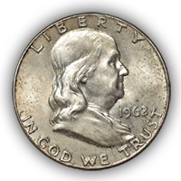 1962 Franklin Half Dollar Uncirculated Condition