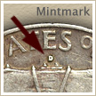 Mintmark Location 1962 Franklin Half Dollar