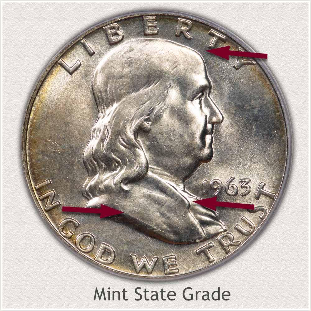 1963 Franklin Half Dollar Mint State Grade