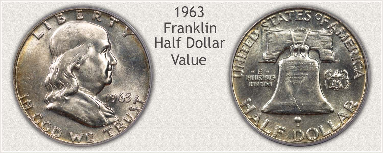 1963 Half Dollar - Franklin Half Series - Obverse and Reverse View