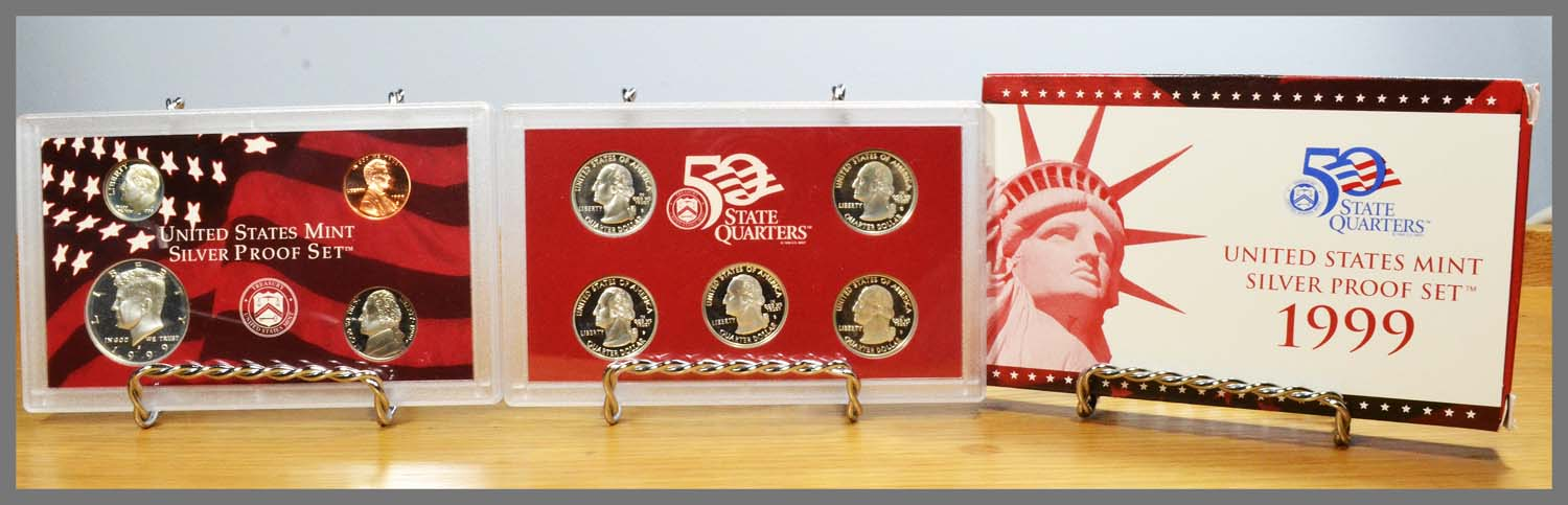 1999 Silver 9-Coin Proof Set