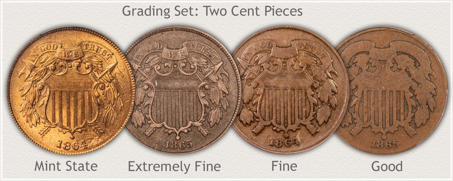 Two Cent Pieces Grading Set