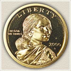 Obverse 2000 Sacagawea Dollar