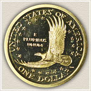 Reverse 2000 Sacagawea Dollar