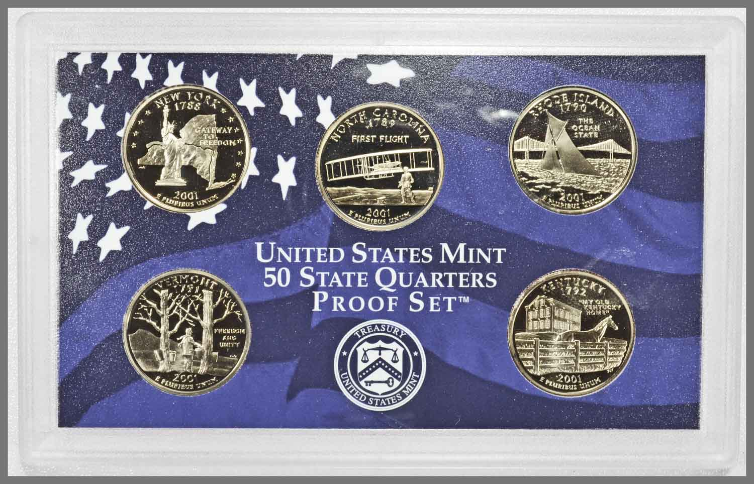 2001 Proof State Quarters