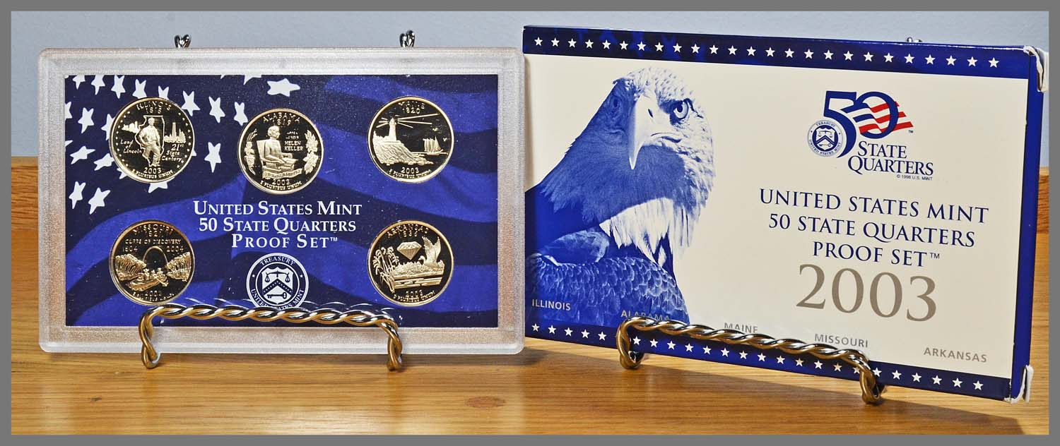 2003 5-Coin State Quarters Proof Set and Package