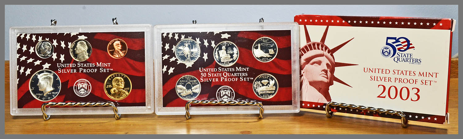 2003 Silver 10 Coin Proof Set and Package