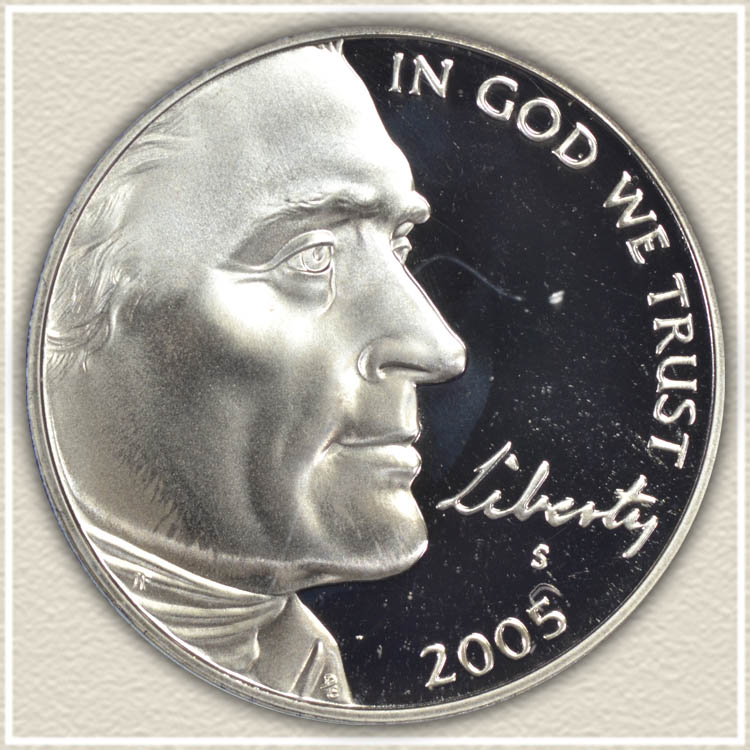 2005 American Bison Nickel Obverse