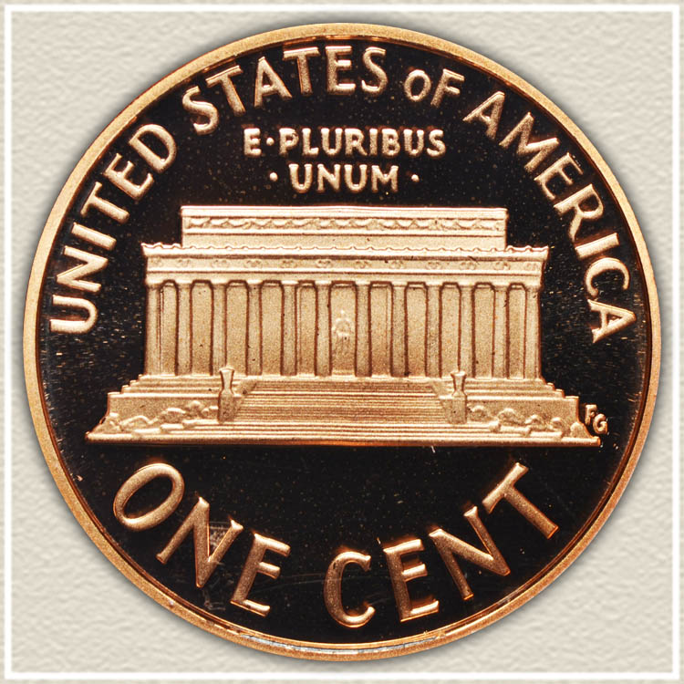 2008 Memorial Proof Cent Reverse