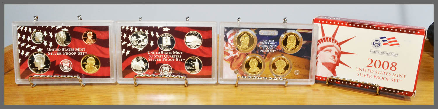 2008 Silver 14-Coin Proof Set and Package
