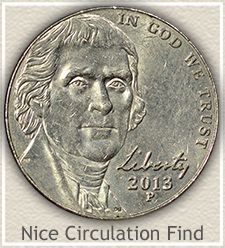 Nice 2013-P Jefferson Nickel