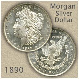 Uncirculated 1890 Morgan Silver Dollar Value