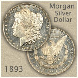 Uncirculated 1893 Morgan Silver Dollar Value