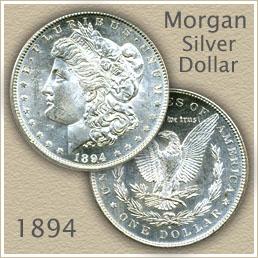 Uncirculated 1894 Morgan Silver Dollar Value