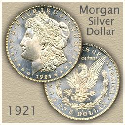 Uncirculated 1921 Morgan Silver Dollar Value