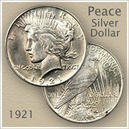 Uncirculated 1921 Peace Silver Dollar Value