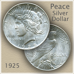 Uncirculated 1925 Peace Silver Dollar Value