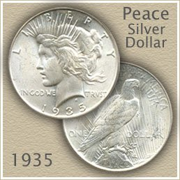 Uncirculated 1935 Peace Silver Dollar Value
