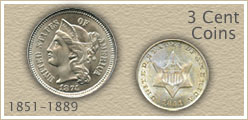Go to...  More 3 Cent Coin Values