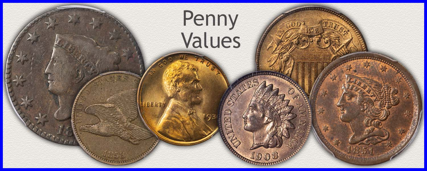 Visit...  Half Cents, Large Cent, Indian, and Lincoln Cent Values