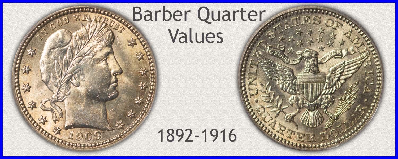 Go to...  Barber Quarter Values