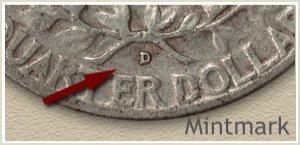 1955 Quarter -D- Mintmark