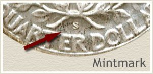 1942 Quarter -S- Mintmark