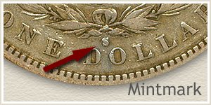 Mintmark Location 1893 Morgan Silver Dollar