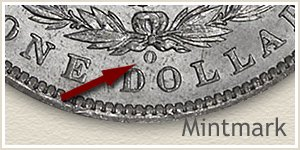 Mintmark Location 1897 Morgan Silver Dollar
