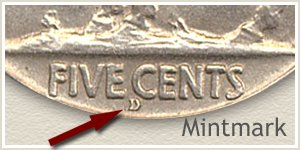 1914 D Mintmark Location