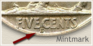 1927 Nickel S Mintmark Location