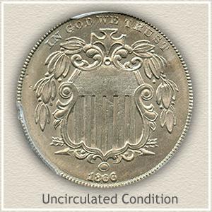 1866 Nickel Uncirculated Condition