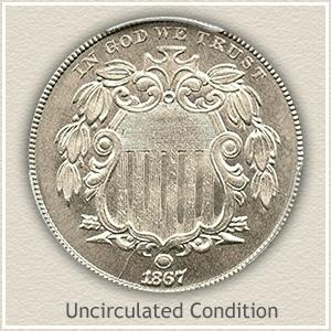 1867 Nickel Uncirculated Condition