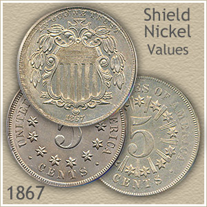 Uncirculated 1867 Nickel Value
