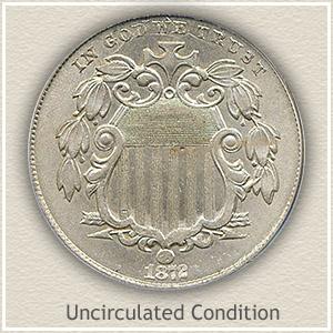 1872 Nickel Uncirculated Condition