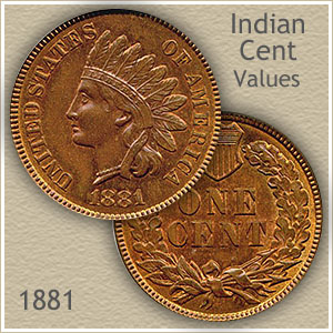 Uncirculated 1881 Indian Head Penny