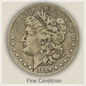 1889 Morgan Silver Dollar Fine Condition
