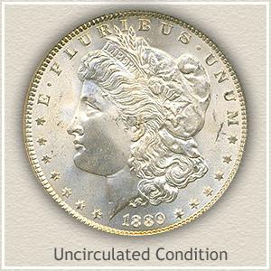 1889 Morgan Silver Dollar Uncirculated Condition