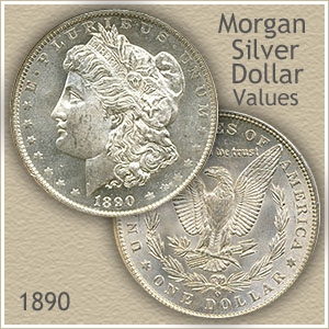 Uncirculated 1890 Morgan Silver Dollar Value