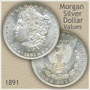 Uncirculated 1891 Morgan Silver Dollar Value